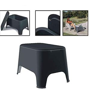 Toomax Petra Table basse en résine 59 x 39 x 36 h cm pour extérieur jardin avec couvercle de rangement