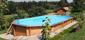 Ubbink Piscine en Bois rectangulaire Azura 400 x 750-Beige