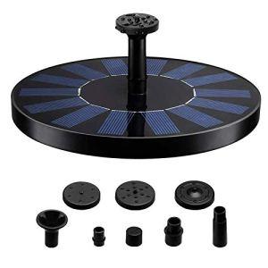 Ulable 1.5W Mini Fontaine Solaire Pompe de Fontaine Solaire avec 6 têtes de Jet différentes pour Petit étang, Piscine, décoration de Jardin