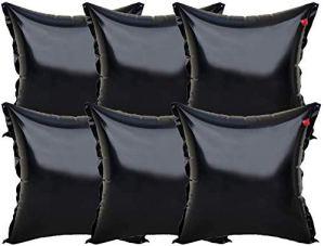 well2wellness 6X Coussin Gonflable d'hivernage Premium Black Edition pour couvertures de Piscine