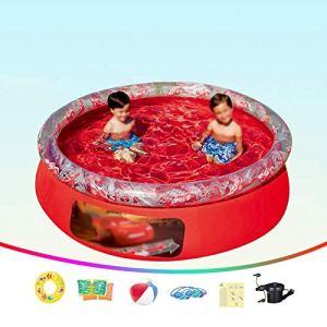 ZYUN Au Dessus Sol Piscines, Gonflable Piscine pour Enfants Et Adultes, pour La Famille Extérieur, Jardin, Fête De l'eau D'été dans La Cour
