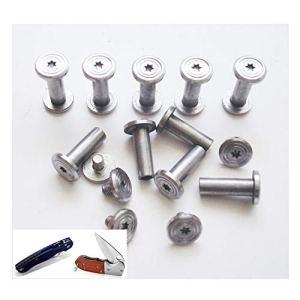 10/lot diy poignée fasteners, contraignant les vis, boulons en acier inoxydable couteau de survie tactique d'edc couteau rivets