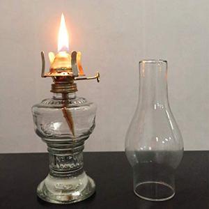 32 cm verre kérosène lampe lampe à huile verre classique rétro décoration de la maison lampe de mariage vacances décoration lampe à huile grande capacité de haute qualité