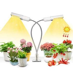 50w Plant Grow Light, Lampe de Plante,Paquet de 2 ampoules de spectre à spectre complet, Plant cultivez une lampe avec une ampoule remplaçable E27/E26, professionnel pour la fructification en fleurs