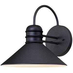 6204400Watts Creek Lanterne Murale, finition Noir texturé en acier Sans l'ampoule noir