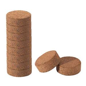 æ— Lot de 10 granulés de démarrage pour plantes en fibre de coco compressée pour pot de fleurs, herbes, légumes