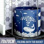 Baignoire portable, facile à installer, baignoire pliante, spa de salle de bains ambiante respectueuse de l'environnement, mousse d'isolation thermique épaisse pour maintenir la température, une baign