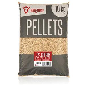 BBQ-Toro Cherry Pellets Composer de 100% Bois de Cerisier | 10 kg | Pellets de Cerises pour Grill, fumoir, Four à Pizza à pellets et systèmes de Chauffage | Pellets de Grill