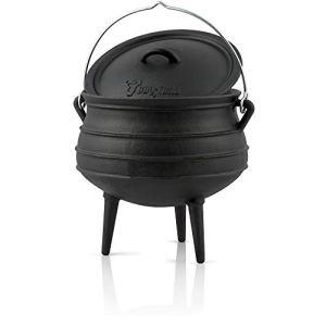 BBQ-Toro Potjie #4 avec Pieds | 12 litres | Chaudron de sorcière en Fonte | Pot de Cuisson en Fonte | Four néerlaandais sud-Africain