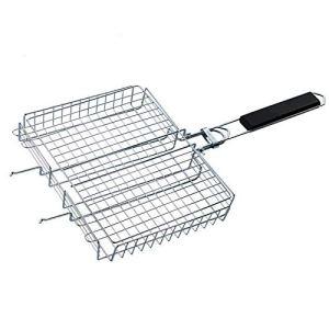 Beunyow Grille de Barbecue Portable, Panier de Gril (Rectangle)