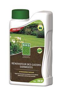 BHS SANP830 Sanmoos   1 L   Soit 200 m²   Liquide   Améliore Le Développement Racinaire Et La Reprise du Gazon, Fabriqué en France