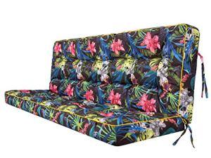 Coussin pour palette, extérieur, balancelle, banc de jardin, avec dossier. Imperméable et de qualité supérieure – L, largeur d'assise : 150 cm