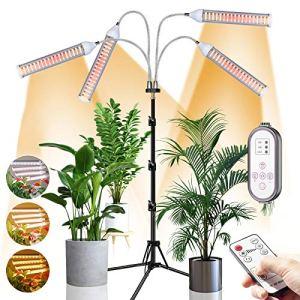 CXhome Lampe LED Horticole 432 LED Lampe de Croissance pour Plantes à spectre complet avec trépied réglable 15-58 pouces Lampe Horticole avec Chronométrage 4 Modes 9 Niveaux Dimmables Télécommande RF