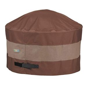 Duck Covers Couvercle Rond pour Foyer 44D x 24H Mocha Cappuccino