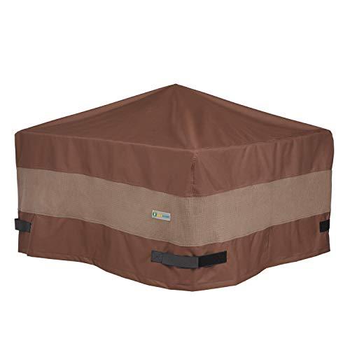 Duck Covers Housse de protection pour foyer carré 44L x 44W x 24H Mocha Cappuccino