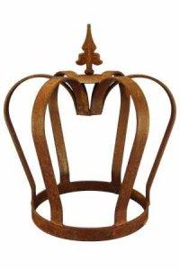 Edelrost Couronne massif 32 cm Décorer Décoration Roi Rouille noble Jardin Fer Métal