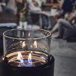 Enders Nova – Cheminée LED L – Noir/chromé