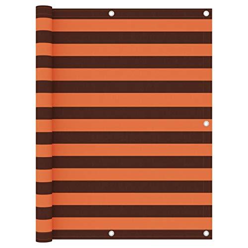 Festnight Écran de Balcon Paravent Extérieur Brise-Vue Orange et Marron 120×300 cm Tissu Oxford