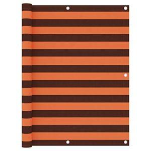 Festnight Écran de Balcon Paravent Extérieur Brise-Vue Orange et Marron 120x400cm Tissu Oxford