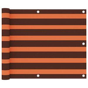 Festnight Écran de Balcon Paravent Extérieur Brise-Vue Orange et Marron 75×300 cm Tissu Oxford