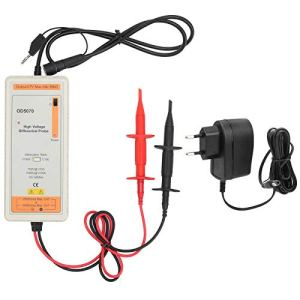 Fockety Sonde Active d'oscilloscope Haute Tension avec kit d'accessoires OD5070 50 MHz Sonde d'oscilloscope Active Sonde différentielle Accessoire Connexions BNC pour signaux différentiels(EU Plug)