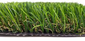 Gazon artificiel – Tapis de pelouse – Jardin – Pelouse « Yasmin » – Hauteur des poils : 37 mm – Largeur : 200 cm – 4 couleurs – Rouleau de 25 m