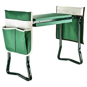 Genouillère et siège de jardin avec 2 poches à outils – Banc de jardin portable en mousse EVA avec coussinet pour genoux pour jardinage – Robuste, léger et pratique – Protège les genoux et les vêtemen