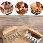 Griffes à viande en acier inoxydable de qualité professionnelle pour déchiqueter, tirer, manipuler la viande