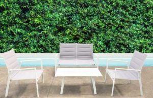 H inHouse srls Salon Illinois 2 places, couleur blanc, dimensions D 124 x 71 x 87 cm, P 69 x 71 x 87 cm, T. 100 x 55 x 42 cm