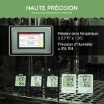 Habor Mini Thermomètre Hygromètre Intérieur Numérique à Haute Précision, Moniteur d'Humidité & de Température Portable, Hygromètre Indicateur du Niveau de Confort du Maison Bureau Cuisine, Noir