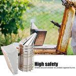 Kit de démarrage pour l'apiculture, Résistance à la corrosion Fumeur de ruche en acier inoxydable pratique, sans danger pour les eekeeper Empêcher les piqûres La ferme apicole calme les