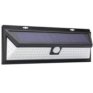 LANTRO JS – Lampes Solaires Extérieures, LED Type A-Type Applique Murale Capteur de Mouvement Solaire pour Jardin Sécurité Lumière Éclairage Extérieur