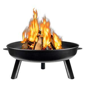 LARS360 Φ 80cm Brasero, Noir Foyers et Braséros, Brasero de Jardin pour Jardin Terrasses BBQ Camping