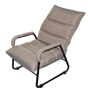 Lazy sofa Individuel Pliable Paresseux Canapé Moderne Simple Déjeuner Pause Dortoir Chambre Chaise Longue Mini Petit Canapé -LI Jing Shop (Couleur : Light Grey)