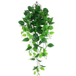 LHHE Plantes suspendues artificielles, Fausses Plantes suspendues de Lierre, adaptées à la décoration de Jardin intérieur et extérieur de Maison de Mur (Pas de Panier)