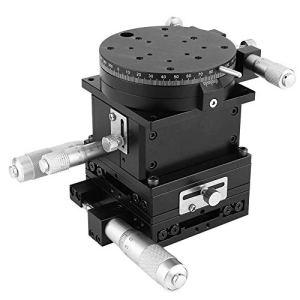 LHQ-QG Manuel linéaire Parage Plate-forme SEMXYZR-80 micrométrique, Roulement Tuning coulissant linéaire table d'étape 80mm