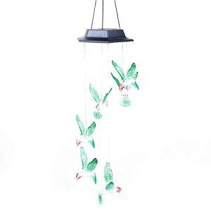 Lshbwsoif Carillon éolien à LED à énergie solaire pour extérieur – Lampe de jardin à changement de couleur – Décoration d'arbre à suspendre