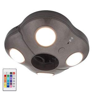 Luxsway Lumières parapluie super lumineuses pour terrasse 4 modes 16 couleurs à piles
