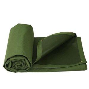 LWHY Tissu imperméable vert de bâche-auvent d'armée pour le camping, la pêche, le jardinage-650g/m² (taille : 7X5M)
