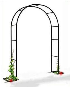 LYBC Arche De Jardin pour Plantes Grimpantes,Arceau À Rosiers W120xH220cm,W140xH230cm,W180xH220cm,W200xH230cm Arcade Allée Entrée