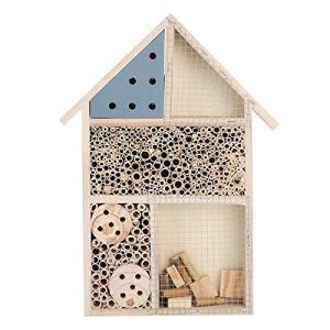 Maison à insectes en bois – Maison d'hôtel – Abri à insectes – Décoration de jardin – Pour tous vos insectes de jardin comme les abeilles sauvages (1)