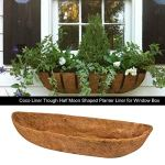 M/B Coco Liner Coco Trough Liner Fiber Goods Hanging Basket Liner Remplacement Naturel Coco Planter Basket Window Box – 24IN, 30IN, 36IN, 48IN