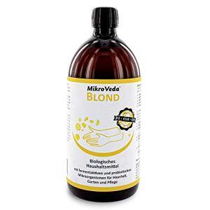 MikroVeda Blond Nettoyant microbiotique ménager 1 l Activateur de sol organique 100% naturel Fluide Végétalien