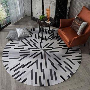 Miwaimao Tapis rond pour salon, chambre, cuisine, terrasse, jardin, table basse, chaise, panier suspendu 180 cm, 180 cm