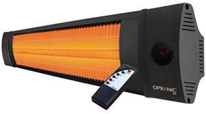 OPRANIC PRO Radiateur Electrique Infrarouge avec Télécommande | 2300 Watts & IPX4 | Chauffage Electrique Infrarouge, Chauffage Exterieur Terrasse Electrique, Parasol Chauffant Exterieur