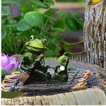 Ornements Sculpture de jardin piscine flottante eau Grenouille Décoration Accueil aquarium étang Décoration Artisanat Jardin Rocaille Simulation Animal Décoration