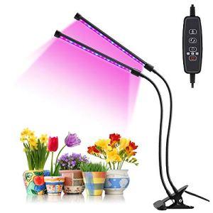 OVAREO LED Lampe de Plante, LED Lampe Horticole, Grow Light à 360° Éclairage Horticole 9 Luminosités 3 Modes Lampe de Croissance Spectre Complet Avec Chronométrage AUTO – ON/OFF 3H / 9H / 12H