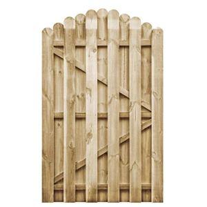 Pissente Portail d'Entrée Jardin, Clôture de Jardin Rustique Porte Décorative de Passage Extérieur en Bois pour Cour Patio Terrasse Parc, 100 x 150 cm