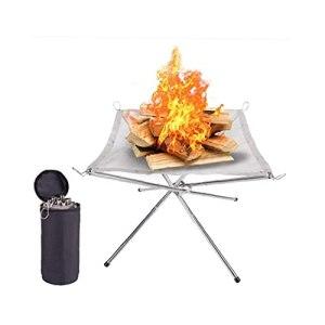 Portable Brasier Extérieur Collapsing Acier Mesh Feu, Parfaits Pour Le Camping Backyard Garden Moule En Silicone Faire Kitbarbecue Grill