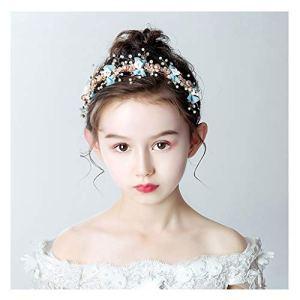 Q Couronne de fleurs Bandeau pour enfant Bijou de tête de mariage coréen Accessoires de cheveux F